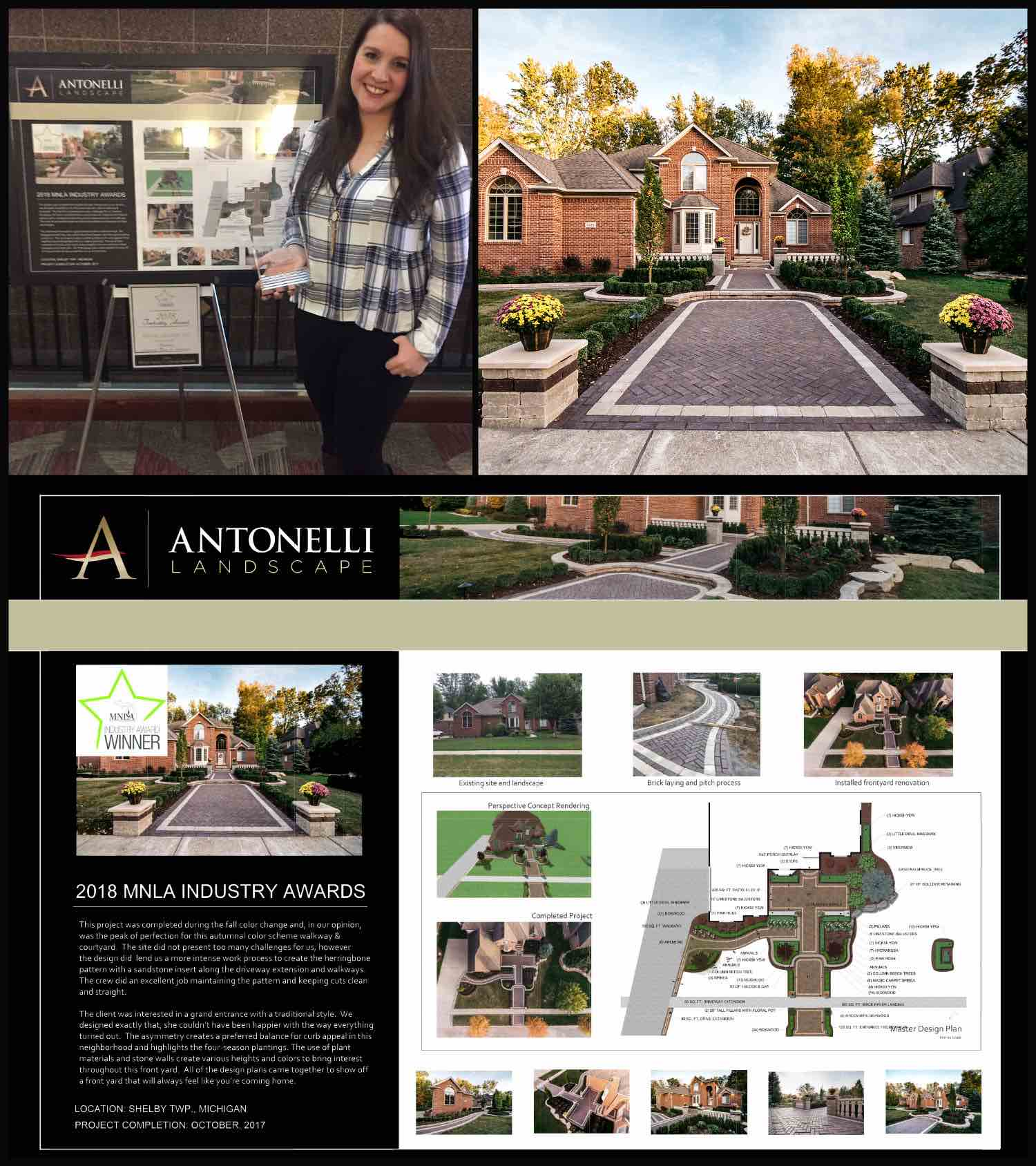 MNLA 2018 Grand Award _ Residential Landscape Design & Installation _ _Grand Entrance_ - Shelby Twp