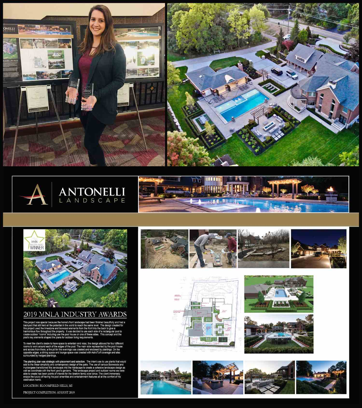 MNLA 2019 Industry Award _ Residential Landscape Design & Installation _ _Destination Dream Home_ - Bloomfield Hills
