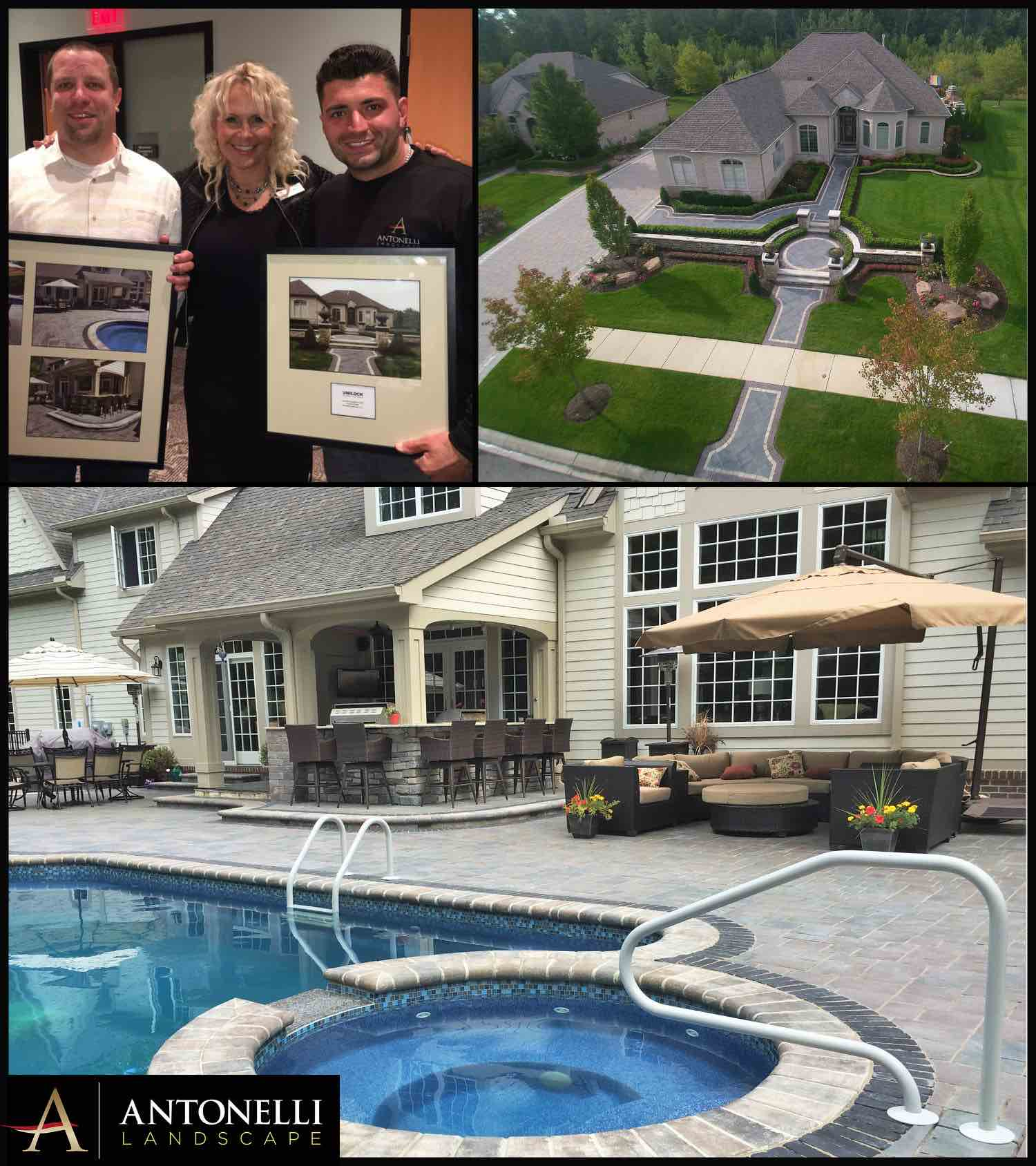 Unilock 2016 Project of Note - Washington Twp(top) _ 2016 Best Backyard - Oakland Twp
