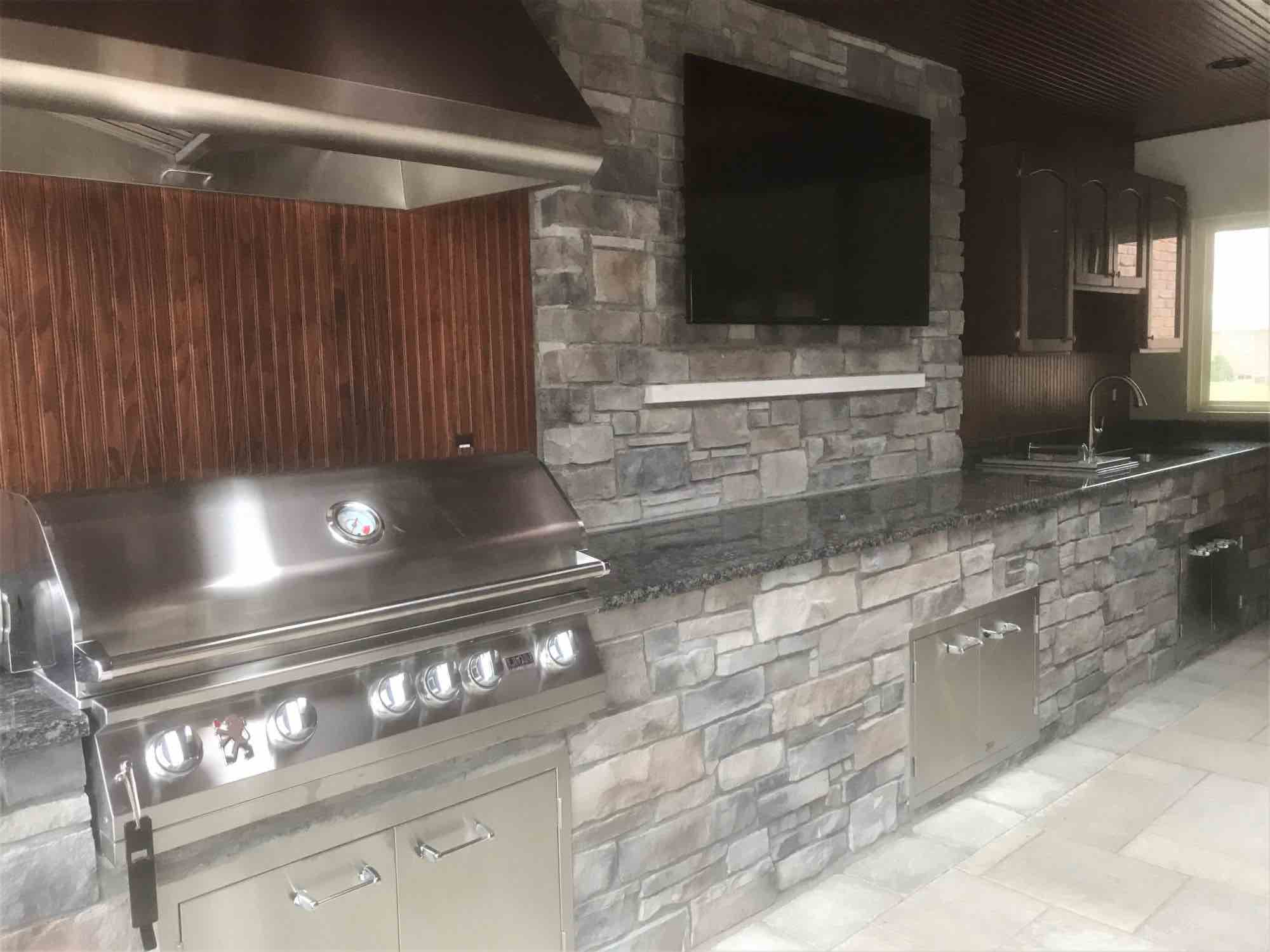 kitchen attached to pool area