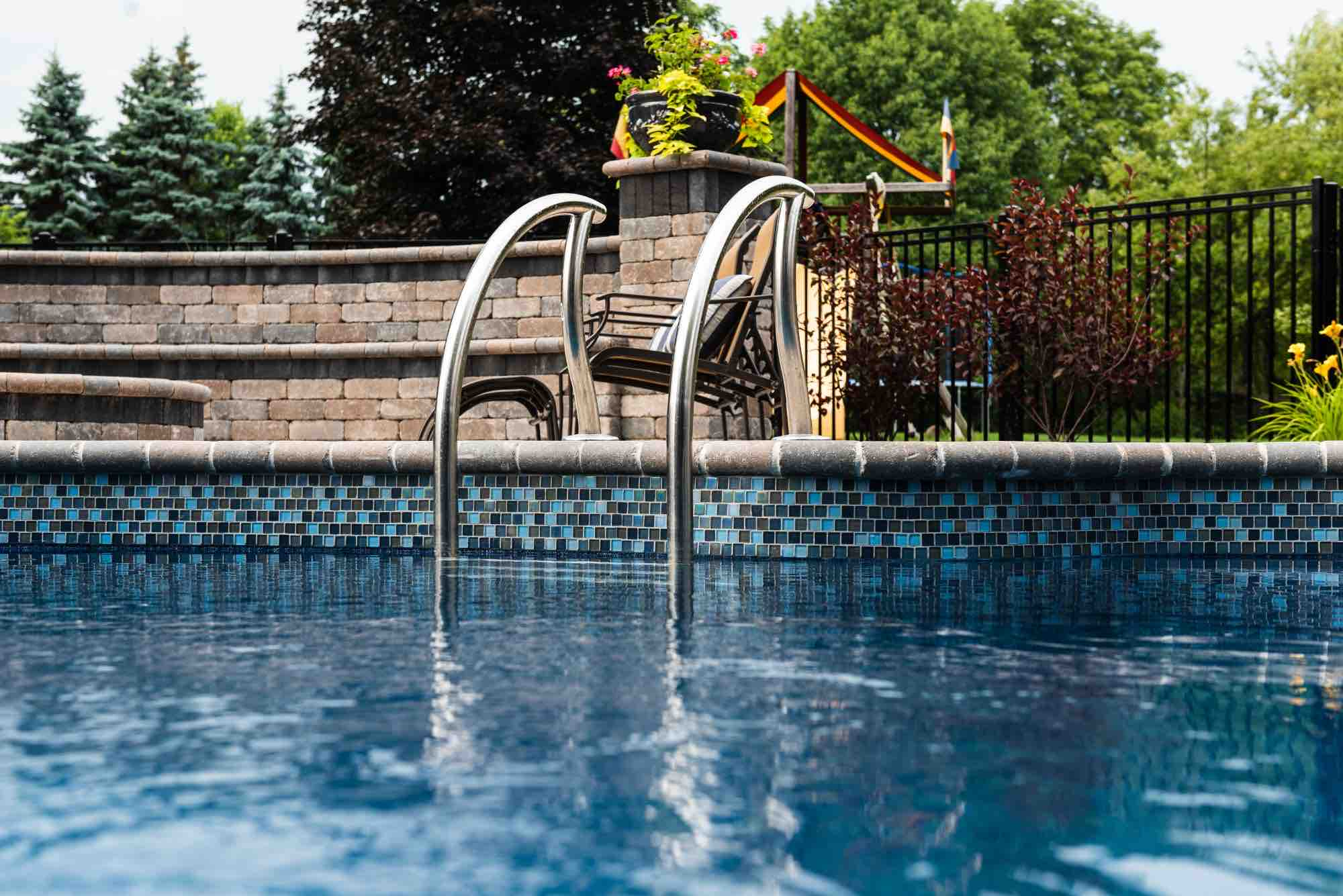 entry ladder into pool
